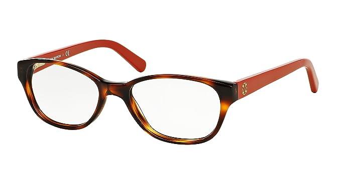 Amazon.com: Tory Burch TY2031 Eyeglass Frames 1162-49 - Amber Orange ...