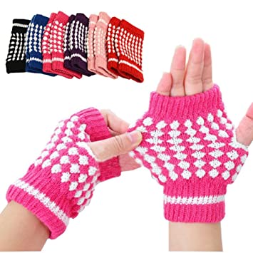 Gloves Transer® New Cute Girls Knitting Warm Mittens Pineapple ...
