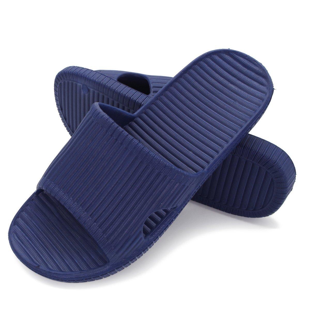 Qiucdzi Bathroom Shower Slippers Women's and Men's Summer Non Slip House Sandals Soft Pool Beach Shoes