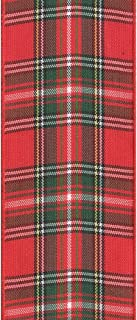 product image for Offray Fashion Plaid Craft Ribbon, 3/8-Inch Wide by 10-Yard Spool, Red