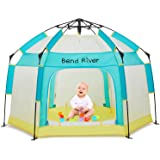 Bend River Portable Baby Beach Tent, Baby Playpen with Canopy, Toddler Play Yard Indoor and Outdoor, Foldable Mosquito Net fo