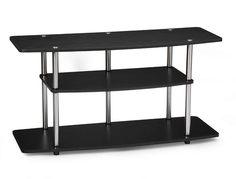 Amazon.com: Convenience Concepts Designs2Go 3 Tier Wide TV Stand, Black:  Kitchen U0026 Dining