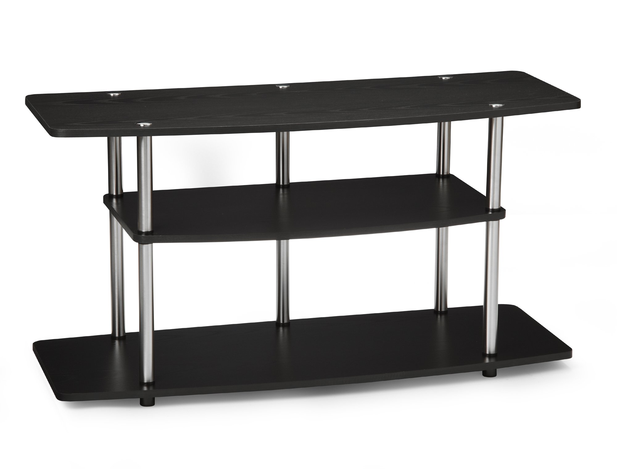 Convenience Concepts Designs2Go 3-Tier Wide TV Stand, Black by Convenience Concepts