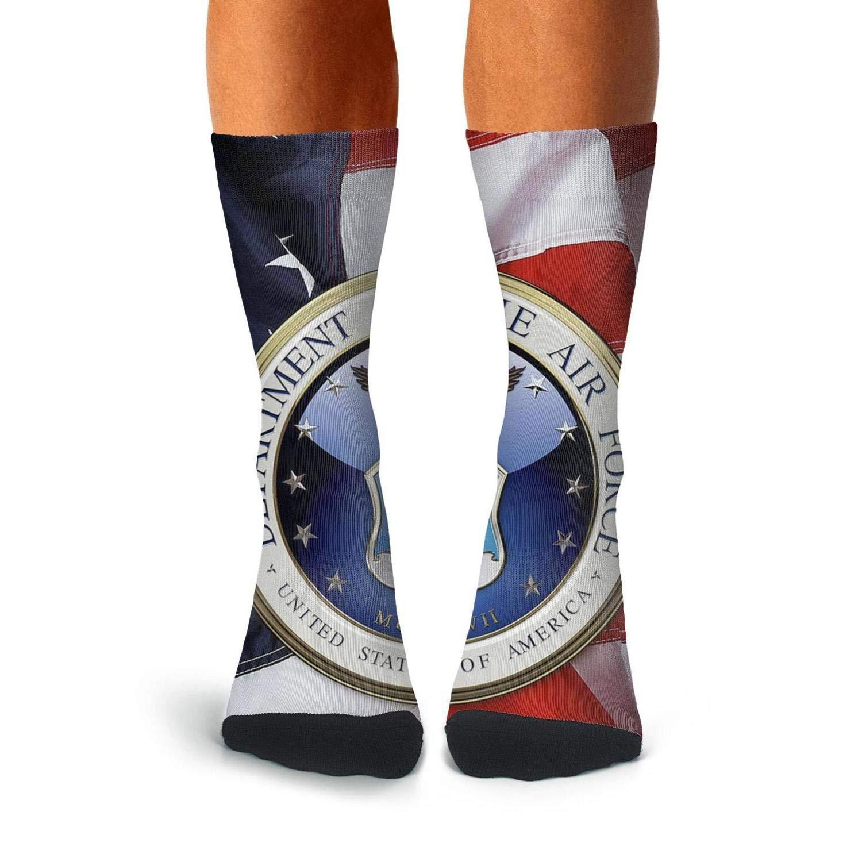 KCOSSH air force Crazy Crew Socks Print Calf Sock for Mens