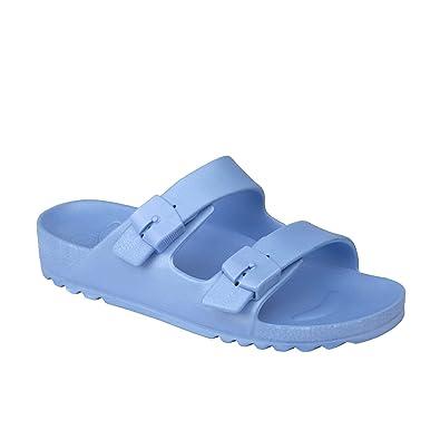 65f7f34da6c7c3 Scholl Bahia Ladies Buckle Sandals Light Blue: Amazon.co.uk: Shoes ...