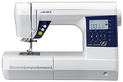 JUKI hzl-g220 máquina de Coser electrónica con cortaalambres automático Metal/PVC Blanco 44