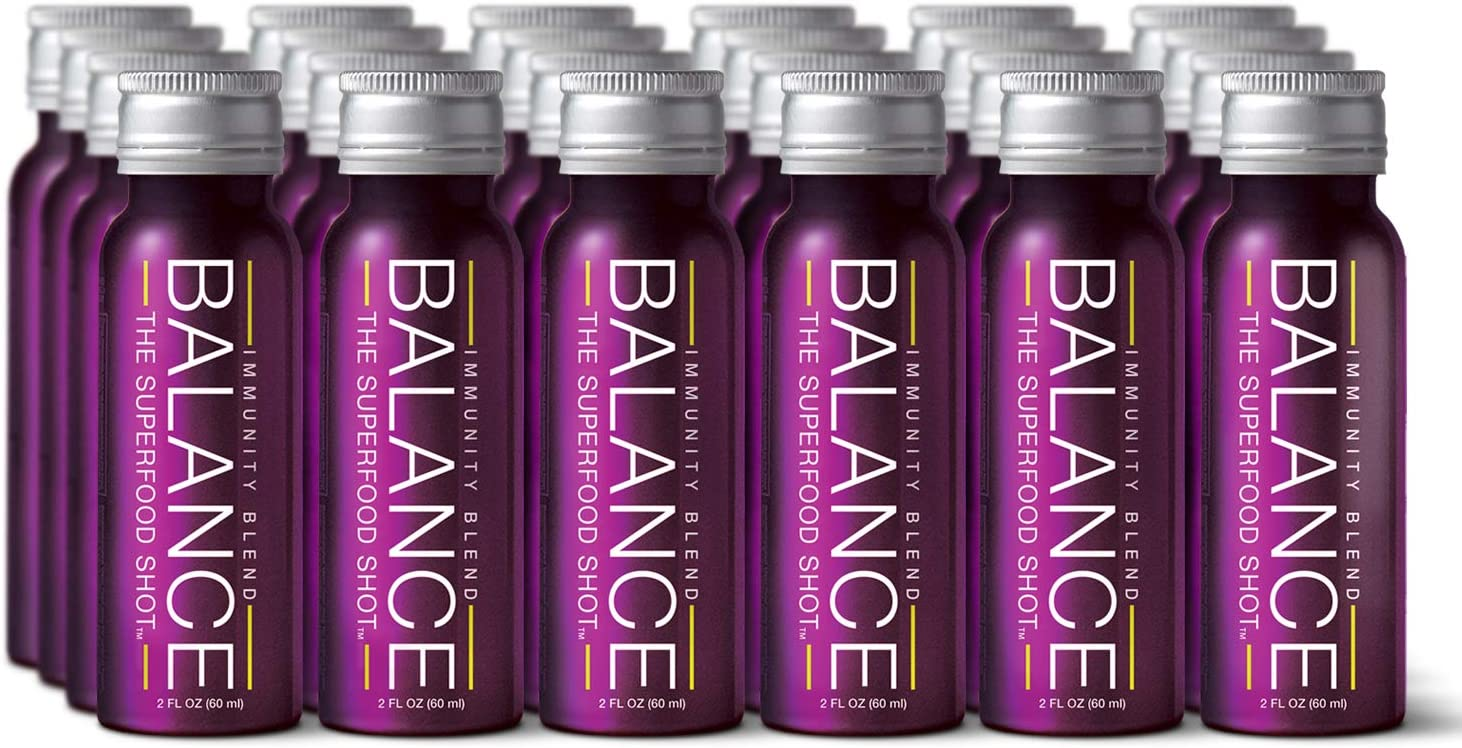 Supportive Immunity Shots w Organic Sambucus Elderberry, Real Vitamin C 1 2 Day of Fruits Vegetables – 2oz Daily Immune Support Drink for Kids Adults on The Go, Vegan, Gluten-Free 24 Pack