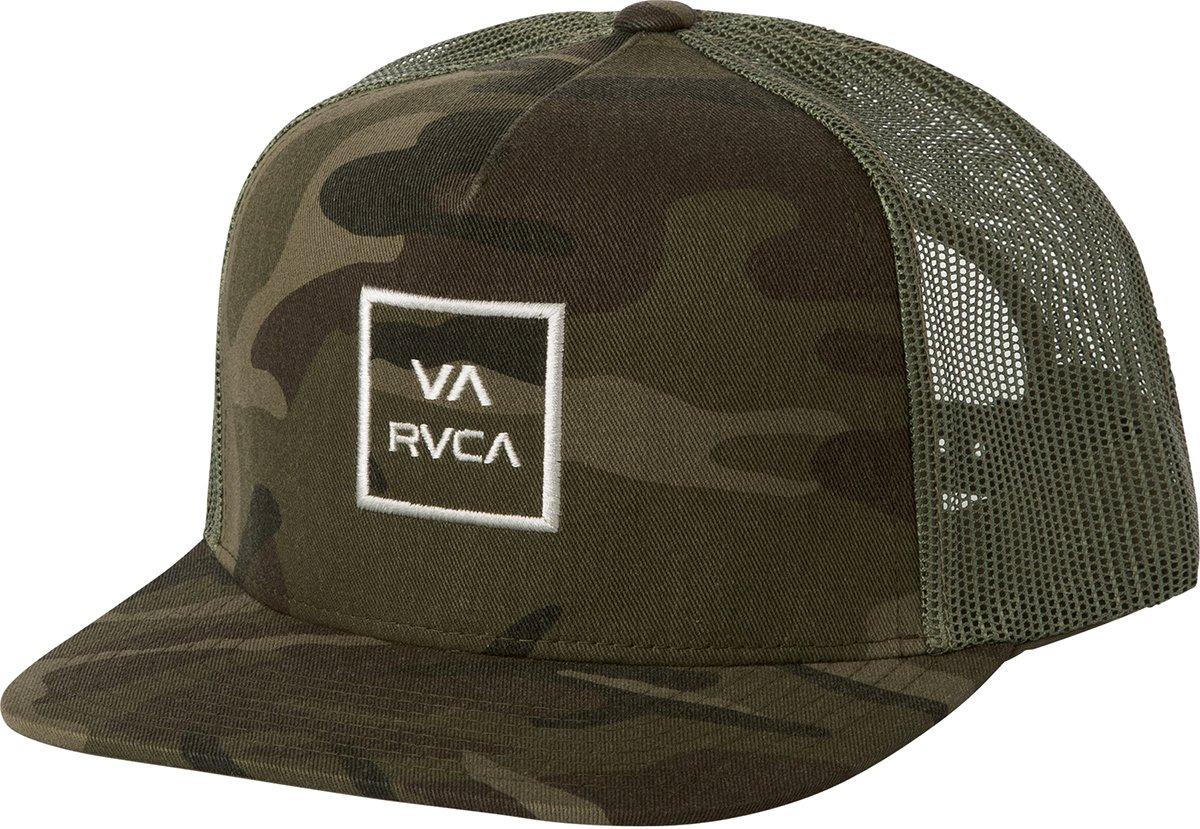RVCA Big Boys' VA All The Way Trucker Hat, Olive Camo, One Size