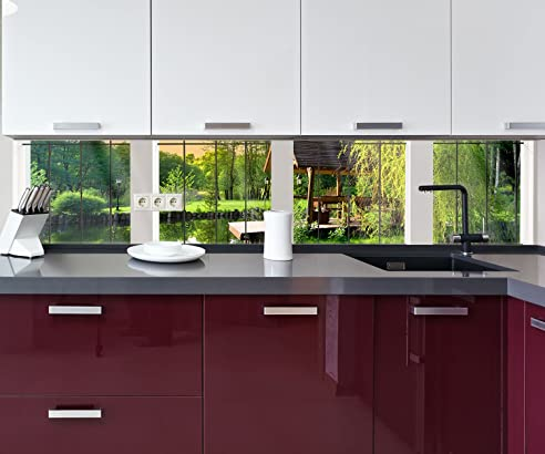 Küchenrückwand Fenster aussicht Nischenrückwand Spritzschutz ...