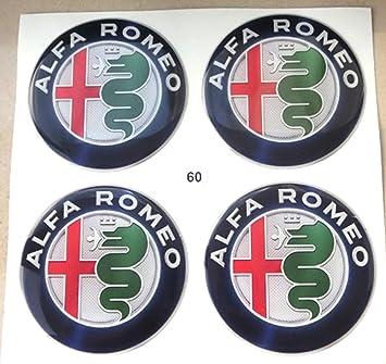 Adhesivos de resina para embellecedor Alfa Romeo, 60 mm , calidad 3M, pegatinas para tuning en 3D - 4 unidades: Amazon.es: Coche y moto