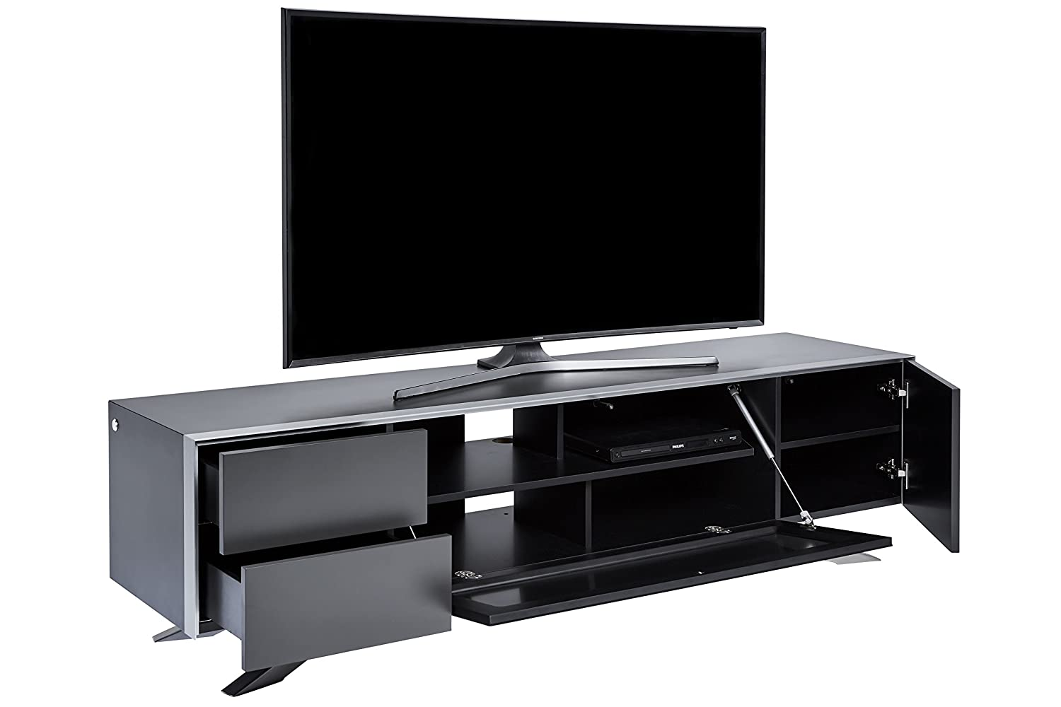 jahnke tv lowboard Jahnke SL 5180 AF TV Stand, Wood, brown, 49.3 x 45 x 180 cm: Amazon.co.uk:  Kitchen u0026 Home