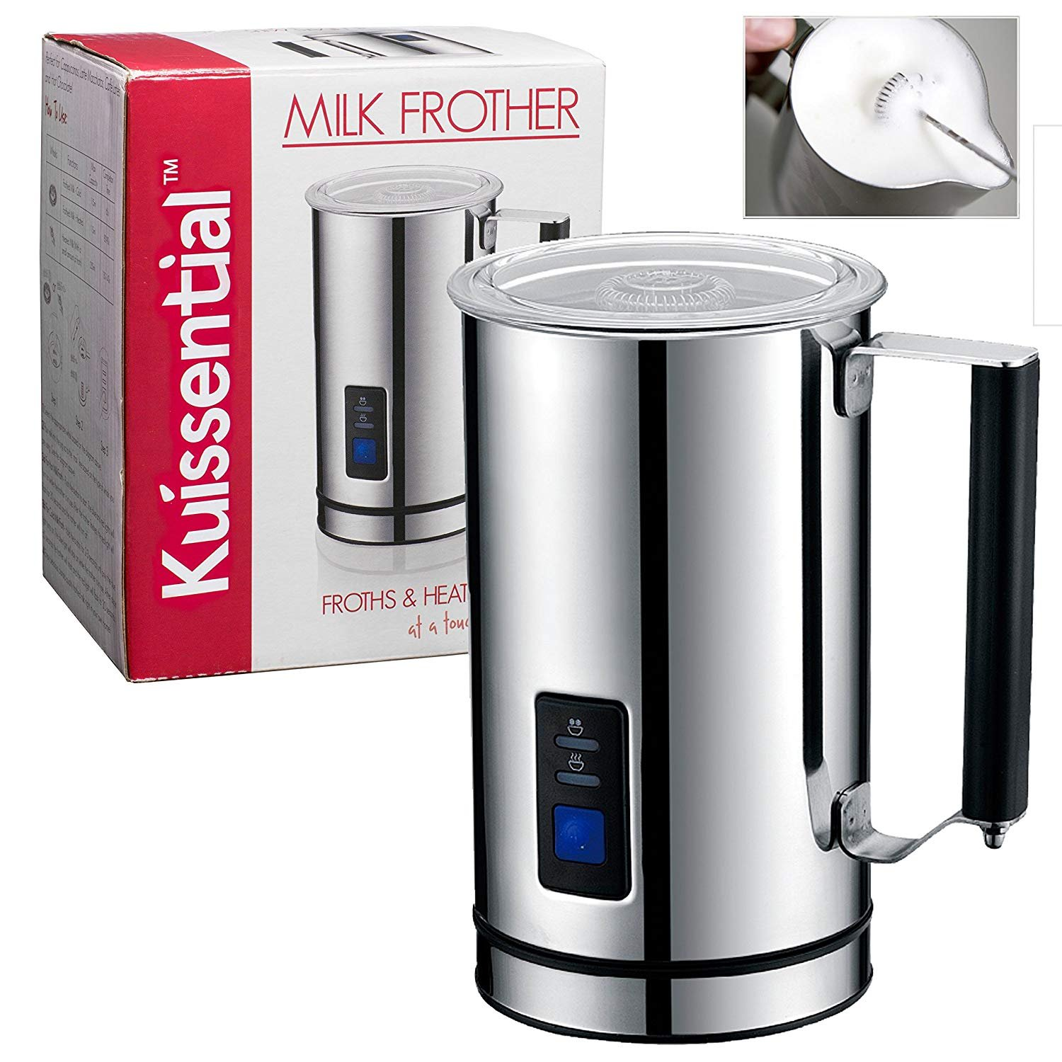 Kuissential Deluxe Automatic Milk Frother and Warmer, Cappuccino Maker KDFR