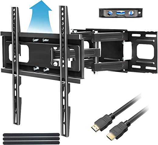 Full Motion TV Mount with Height Setting FOZIMOA TV Wall Mount for Most 32-65 inch LED LCD Plasma Flat Screen Articulating Swivel Tilt Extension TV…