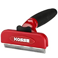Professional Pet Deshedding Tool with Fur Ejector, Kosse Grooming Brush Effectively Reduces Shedding by up to 90%, Grooming Comb for Cats and Dogs –Large