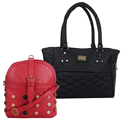 e785a63fd6f Fillincart Women Black and Red Colour PU Material Pack of 1 Sling ...