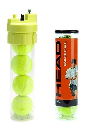 Ball Rescuer Pack Tenis – Convierte envases de Pelotas de Tenis o pádel en un Bote Presurizador de 35 PSI. Este Modelo Incluye 1 Presurizador 1 Bote ...