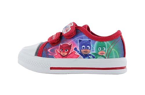 Zapatillas Deportivas de Lona para niños, Talla 5-12, Color Azul y Rojo: Amazon.es: Zapatos y complementos