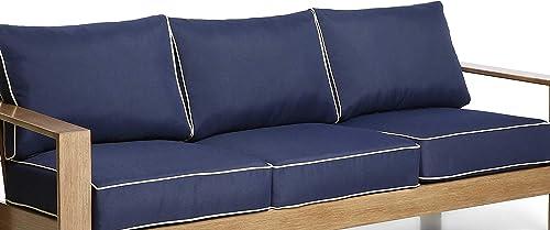 Creative Living Patio Sofa Cushions Blue-3Cushion Deep Seat Cushion Pillow