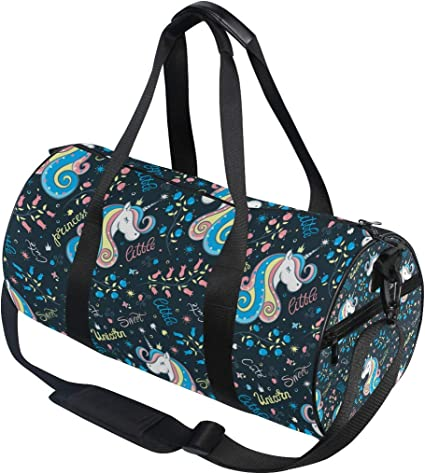 Travel Duffels Colorful Unicorn Duffle Bag Luggage Sports Gym for Women /& Men
