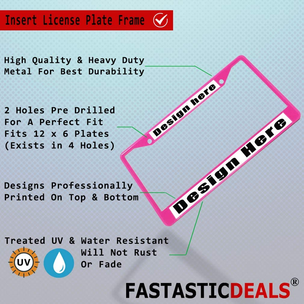 Fastasticdeals Metal Insert License Plate Frame Autism Awareness A Weatherproof Car Accessories Black 2 Holes Solid Insert