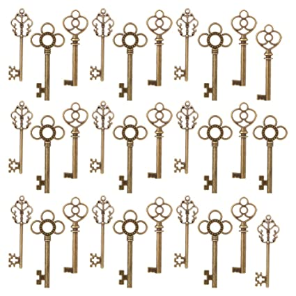 Amazon.com: Vintage Skeleton Keys | 30pcs 2.2"|425|425|?|df1cd35908663194fa4a01ec128b11fa|False|UNLIKELY|0.3491762578487396