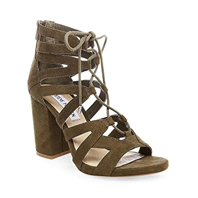 Amazon.com | Steve Madden Women's Gal Olive Lace Up Dress Sandal 5.5M |  Pumps
