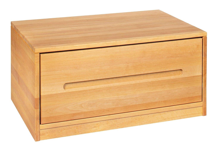 BioKinder Lina Sideboard Bettkasten Kommode mit Schublade aus Massivholz Erle 80 x 55 x 40 cm