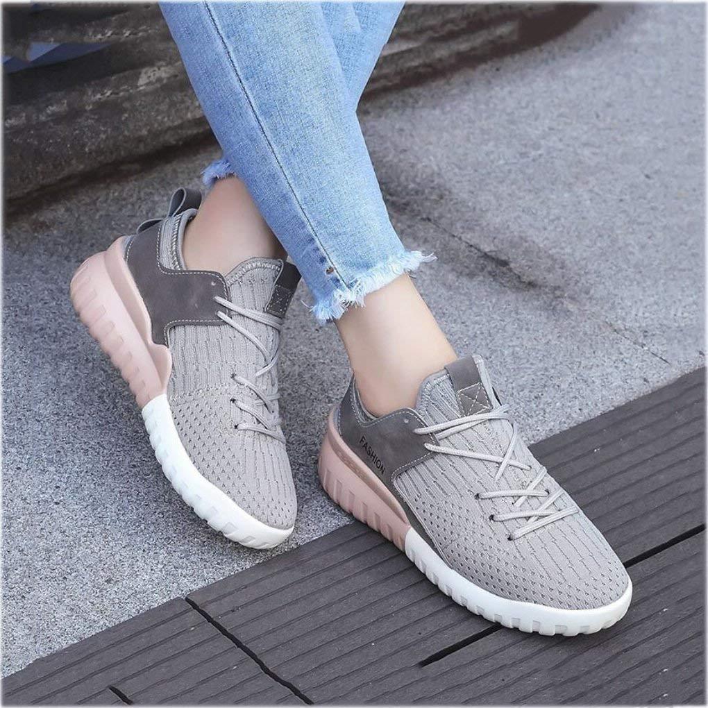 Oudan Turnschuhe der Frauen, 2018 Frühlings Studenten-Breathable Sport-Schuhe, Weibliche Koreanische Leichte Koreanische Weibliche Freizeitschuhe, Laufende Kokosnuss-Schuhe (Farbe : C, Größe : 38) (Farbe : B, Größe : 36) 0bd5ba