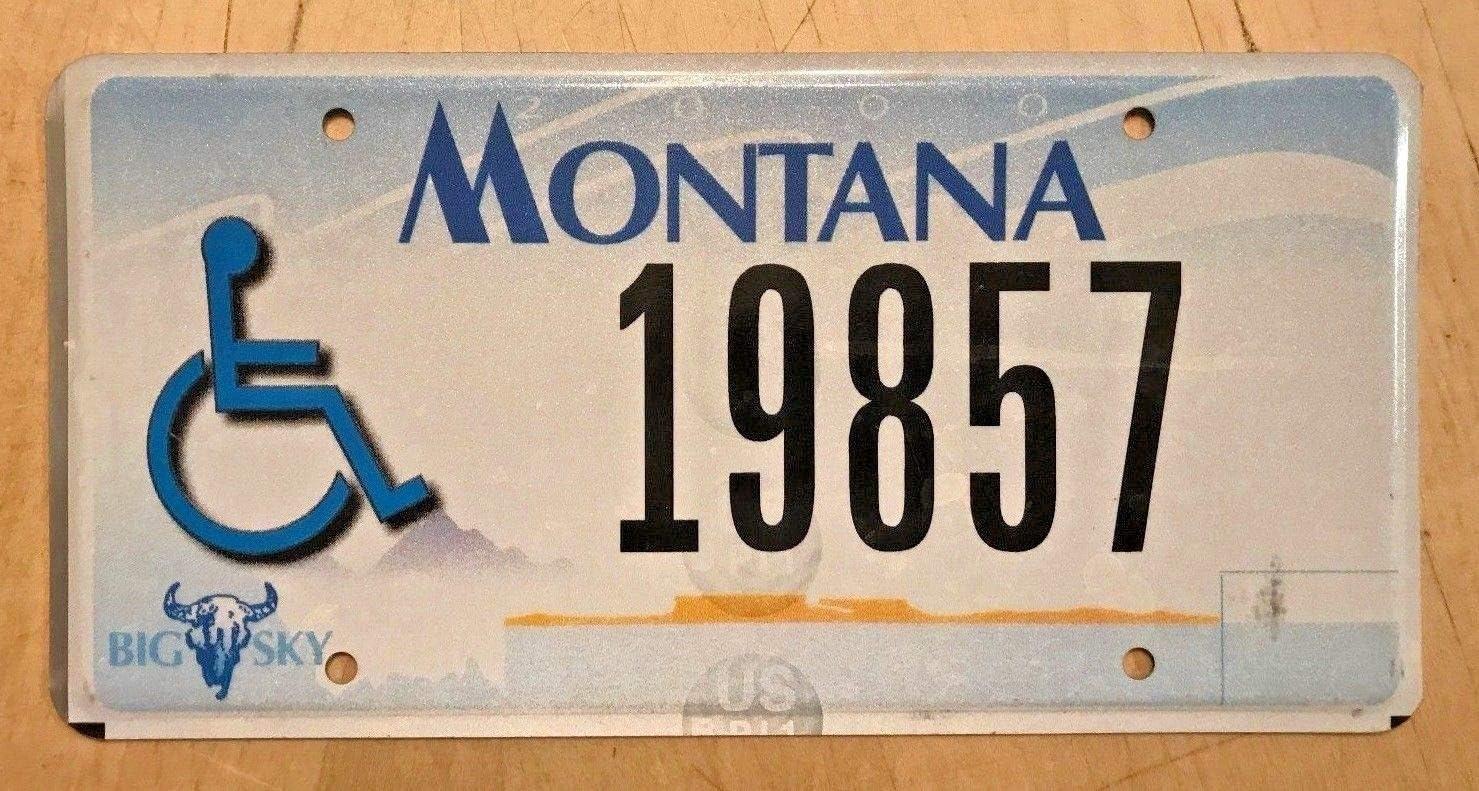 YelenaSign - Placa de matrícula para minusválidos de Montana 19857 Pulgadas, para Silla de Ruedas de 15 x 12 Pulgadas