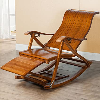 Rocking Chairs MEIDUO Lounge Chair Outdoor Deluxe Wood Beach Yard Pool  Folding Chaise Lounge Chair Recliner