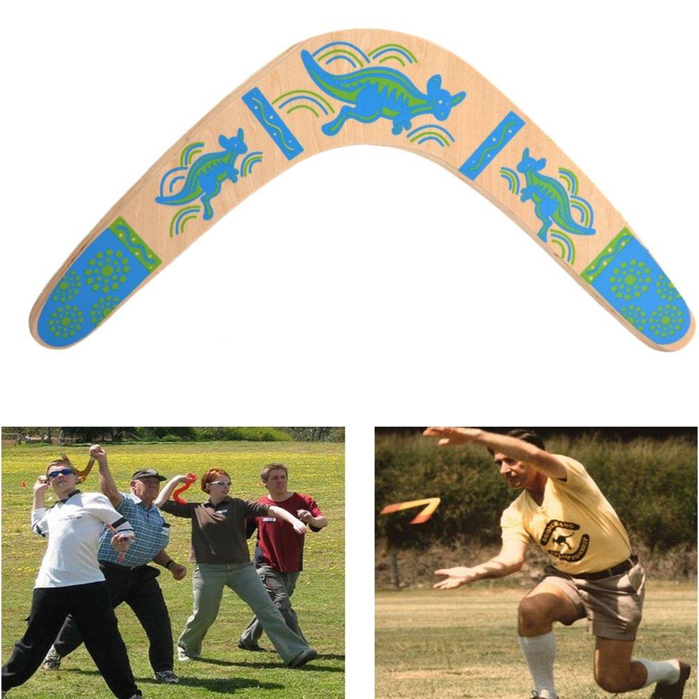Wooden Boomerang V Shape 100 ° Open Returning Boomerang by VGEBY