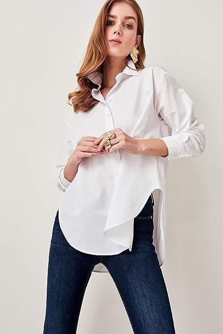 LFMDSY Camisa de Mujer Elegante Informal Camisa Holgada ...