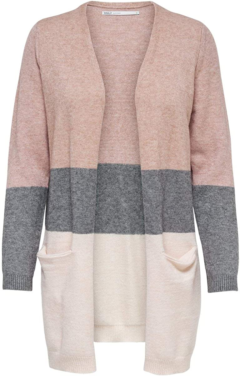 Only Onlqueen L/S Long Cardigan Knt Noos Chaqueta Punto para Mujer