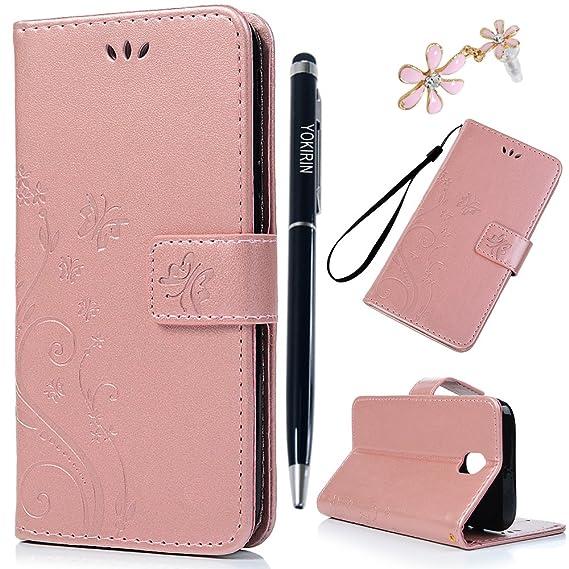 YOKIRIN J5 Pro Lederhülle Wallet Case für Samsung Galaxy J5 2017 PU Leder Handyhülle Flipcase Ständer Case Bookstyle Schutzhü