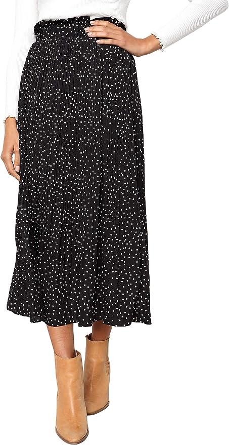 skirt cascade back skirt Argentine tango skirt polka dots