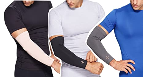 550fece6bb28ef Amazon.com: Tommie Copper Recovery Full Arm Sleeve - NUDE - L ...
