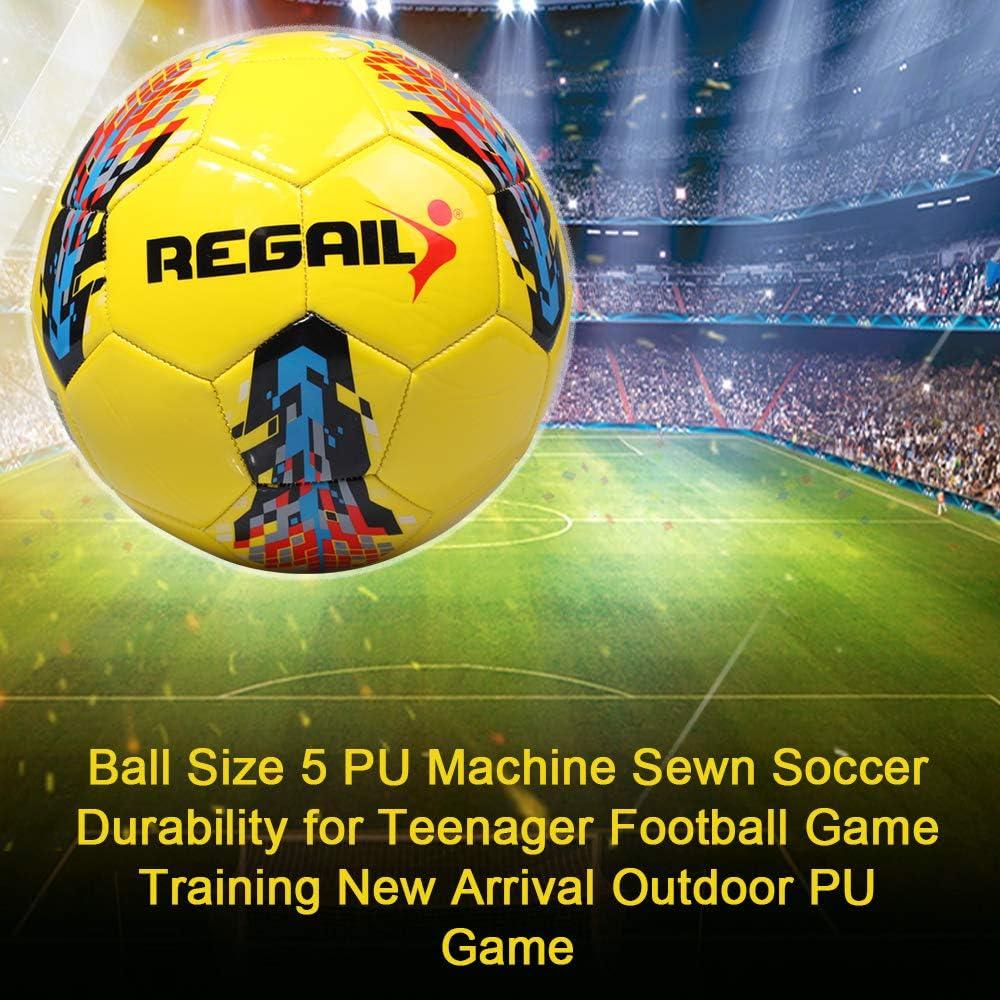 Festnight Ballon Taille 5 PU Machine Cousu la durabilit/é du Football pour Jeu de Football pour Adolescent Formation Nouvelle arriv/ée en Plein air