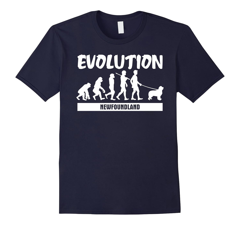 Evolution Newfoundland T-Shirt For Dog Lover-Art