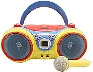 HamiltonBuhl Kids-CD30 Kids Audio CD Player Karaoke Machine with Microphone