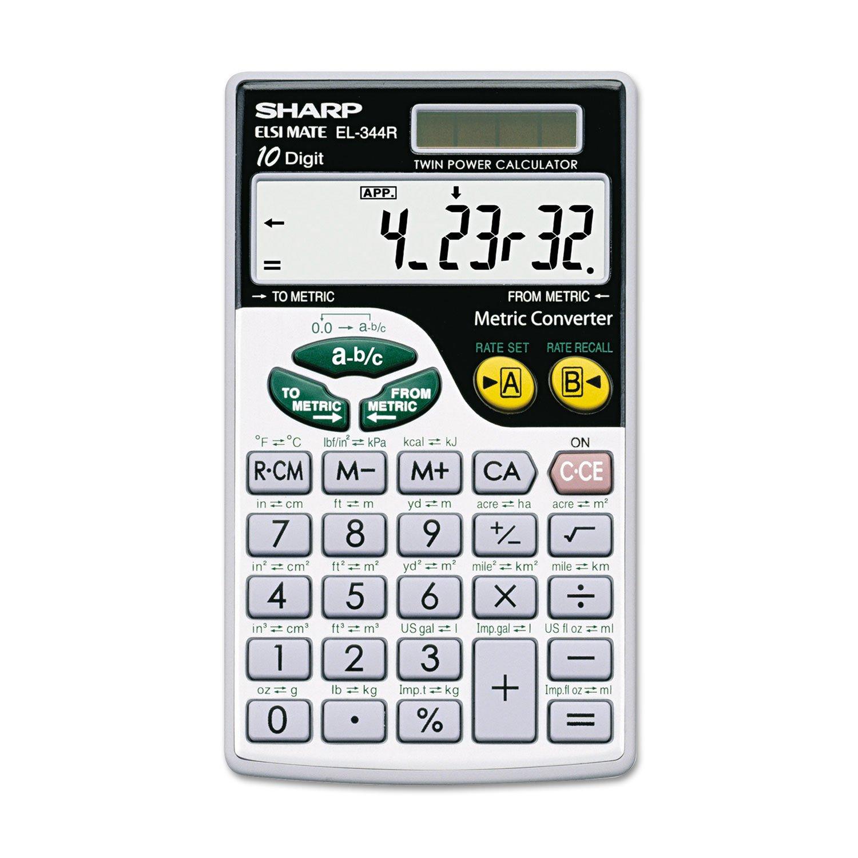 SHREL344RB - Sharp EL344RB Metric Conversion Travel Calculator