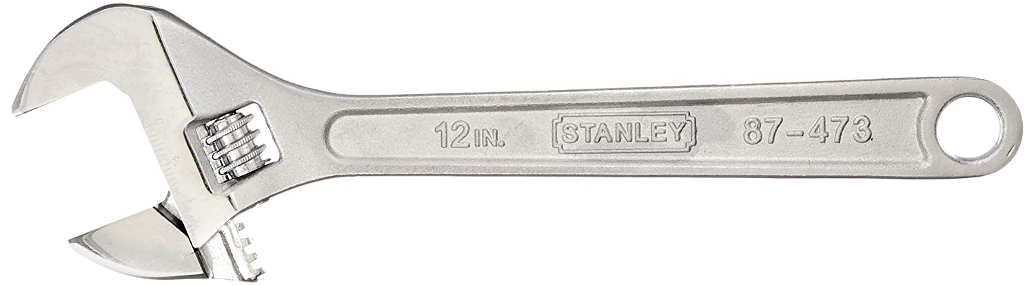 a19b58765e3 Stanley 87-473 12-Inch Adjustable Wrench - Crescent Wrench - Amazon.com