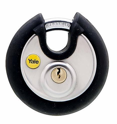 Amazon.com: Yale Acero Inoxidable Candado de disco 70 mm ...