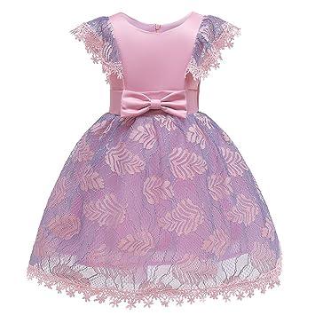 Mealeaf Vestido de Fiesta de cumpleaños para niñas de 2 a 9 ...