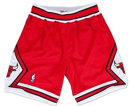sports shoes 9dbac 9393f Chicago Bulls Jordan Replica Shorts 1997-98 Red