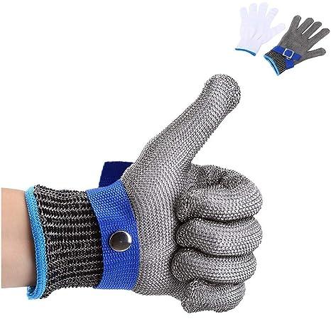Guante de algodón Resistente a los Golpes de Acero Inoxidable 316L para Caza, Pesca, Carnicero, de Alto Rendimiento, Nivel 5 de protección
