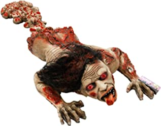 """Halloween Haunters 45"""" Animated Latex Crawling Human Zombie Torso Prop Decoration - Realistic Animatronic Evil Demon Moving Rubber Moaning Tortured Dead Man Bloody Corpse - Haunted House Entryway"""