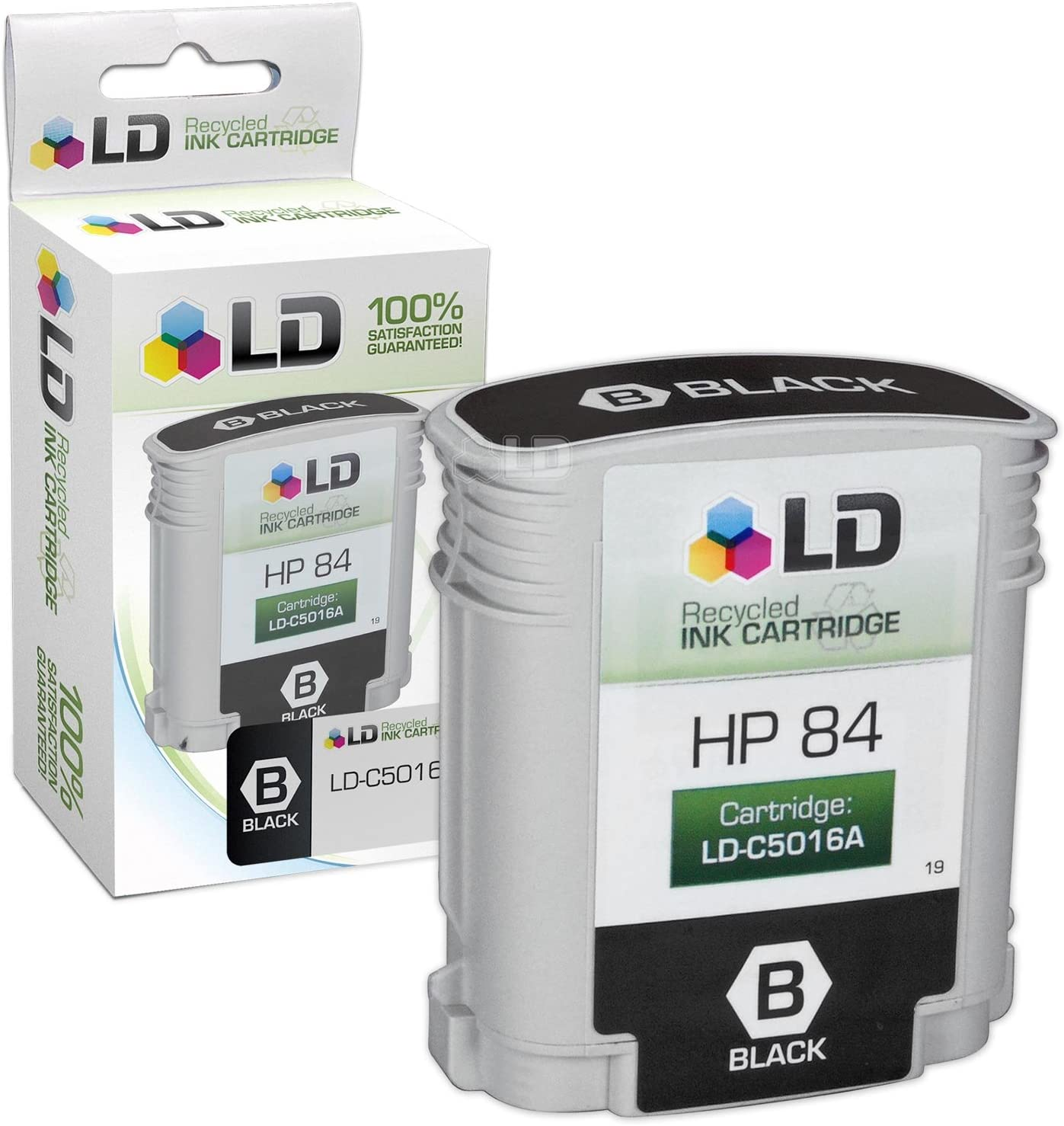 LD Remanufactured Ink Cartridge Replacement for HP 84 C5016A (Black)