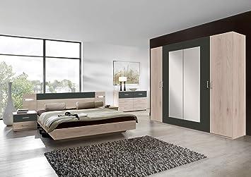 lifestyle4living Schlafzimmer Komplett Set in Eiche-Dekor ...