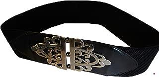 product image for Funfash Plus Size Gothic Cinch Belt Brushed Silver Buckle Stretch Elastic Belt