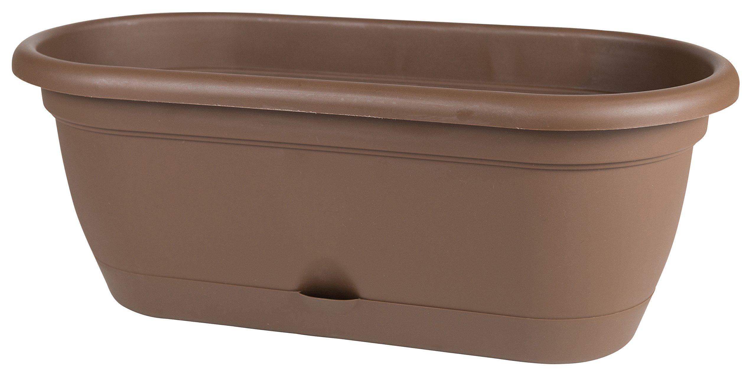 Bloem Lucca Self Watering Window Box, 18'', Chocolate (LWB1845) by Bloem